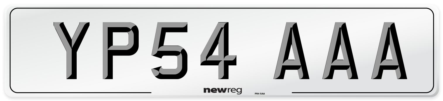 YP54 AAA Number Plate from New Reg