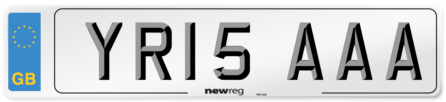 YR15 AAA Number Plate from New Reg