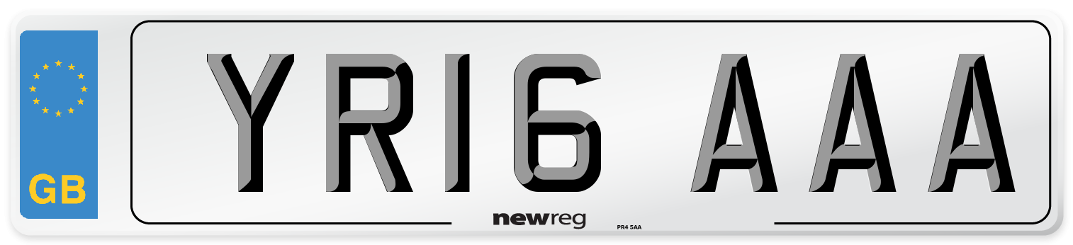 YR16 AAA Number Plate from New Reg