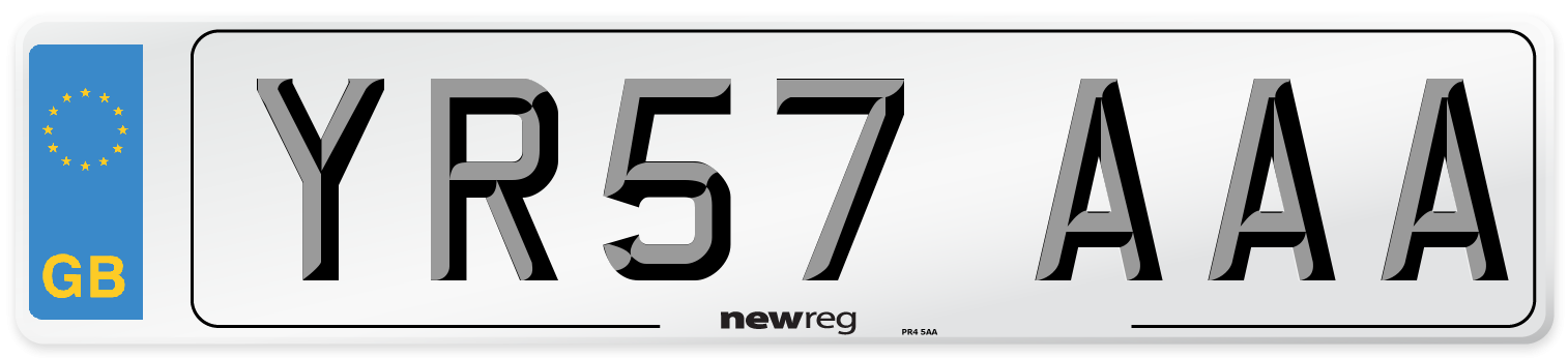 YR57 AAA Number Plate from New Reg