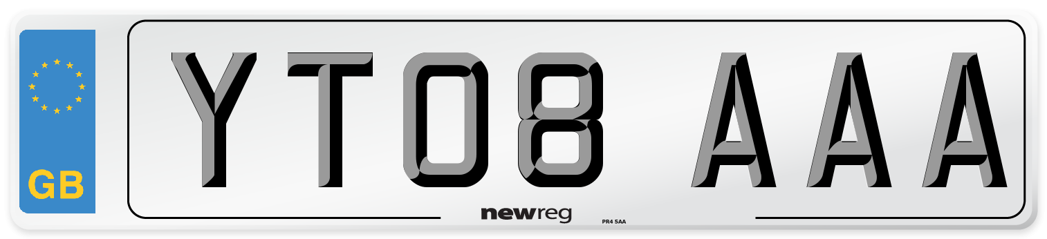 YT08 AAA Number Plate from New Reg