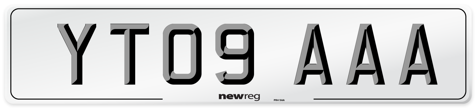 YT09 AAA Number Plate from New Reg