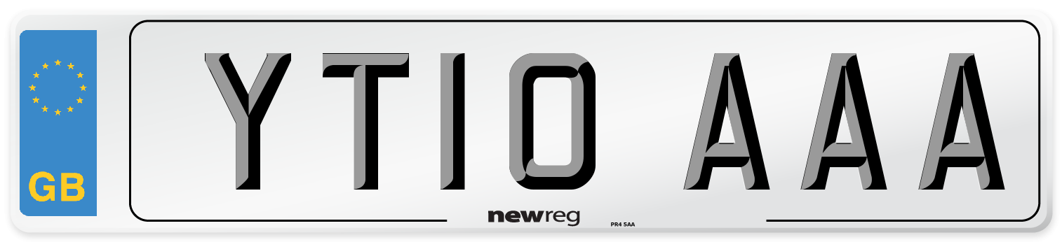 YT10 AAA Number Plate from New Reg