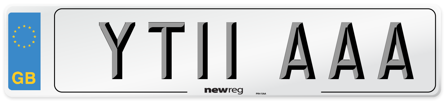 YT11 AAA Number Plate from New Reg