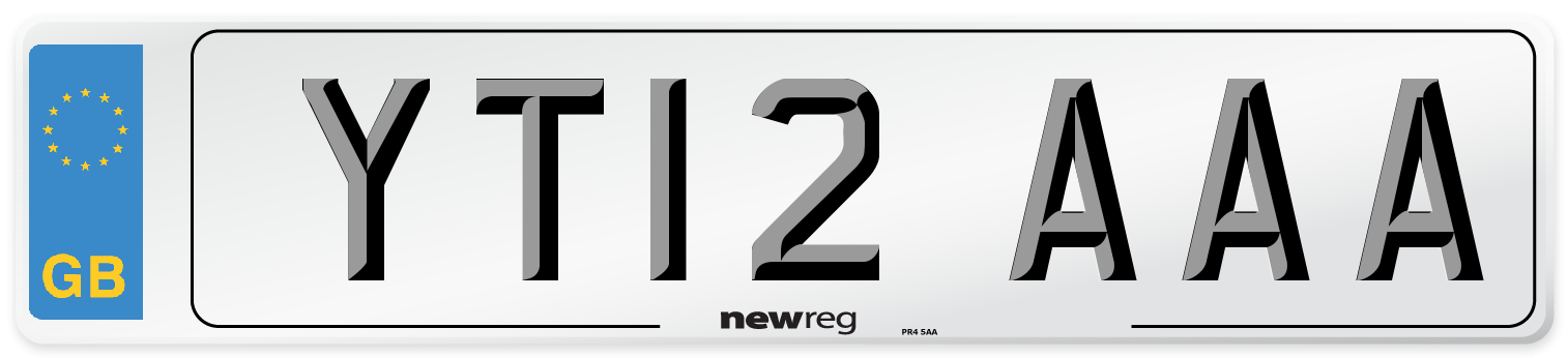 YT12 AAA Number Plate from New Reg