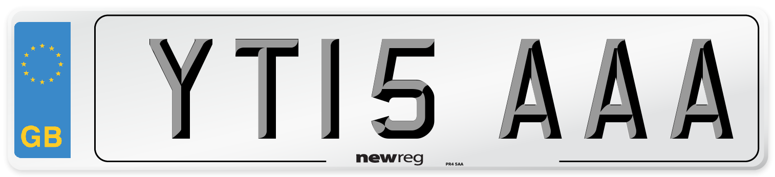 YT15 AAA Number Plate from New Reg