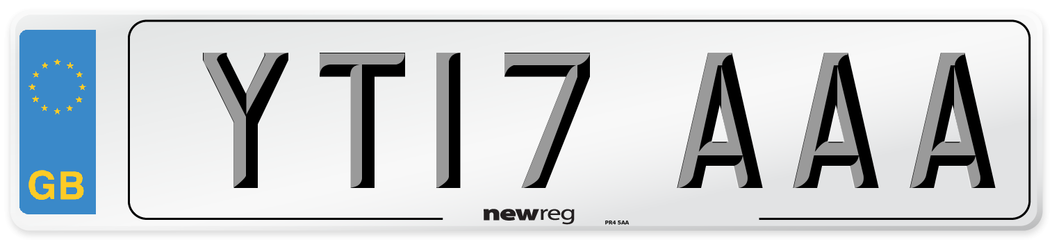 YT17 AAA Number Plate from New Reg