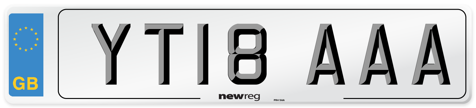 YT18 AAA Number Plate from New Reg