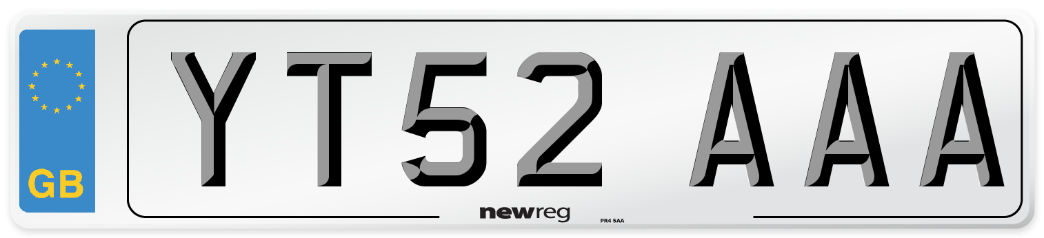 YT52 AAA Number Plate from New Reg