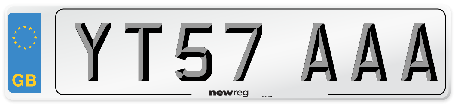 YT57 AAA Number Plate from New Reg