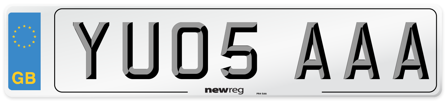 YU05 AAA Number Plate from New Reg