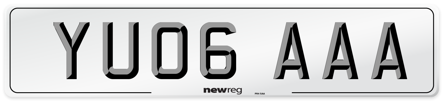 YU06 AAA Number Plate from New Reg