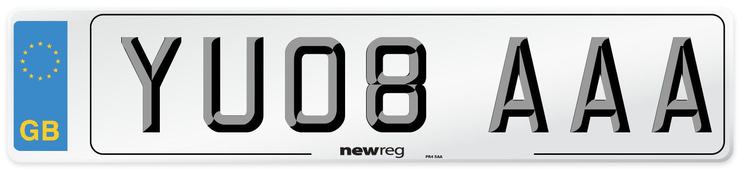 YU08 AAA Number Plate from New Reg