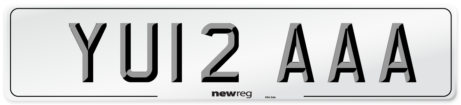YU12 AAA Number Plate from New Reg