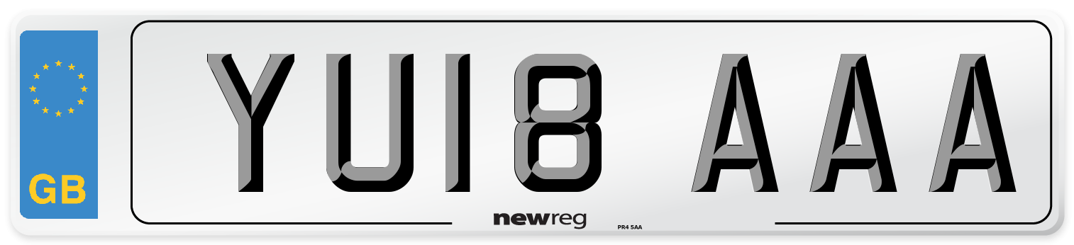 YU18 AAA Number Plate from New Reg