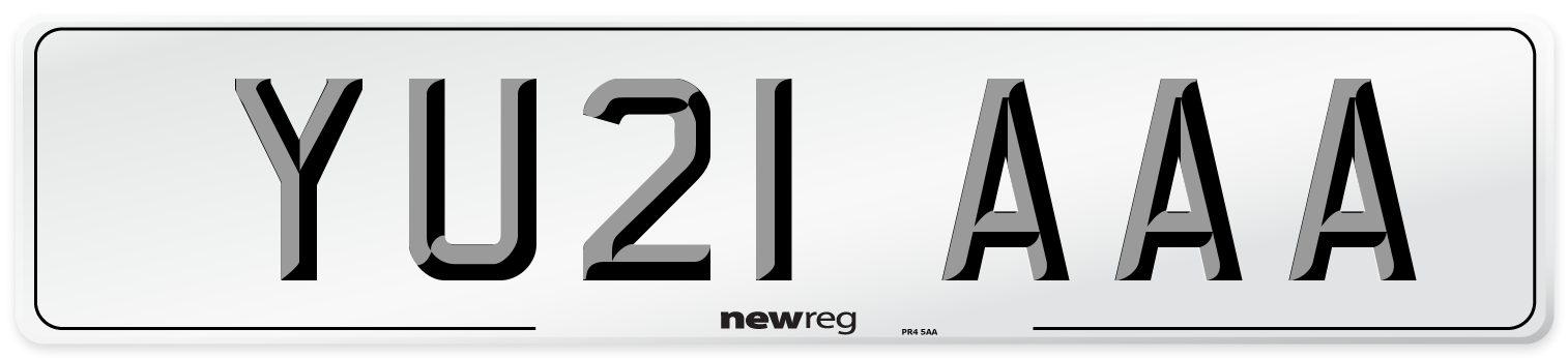 YU21 AAA Number Plate from New Reg