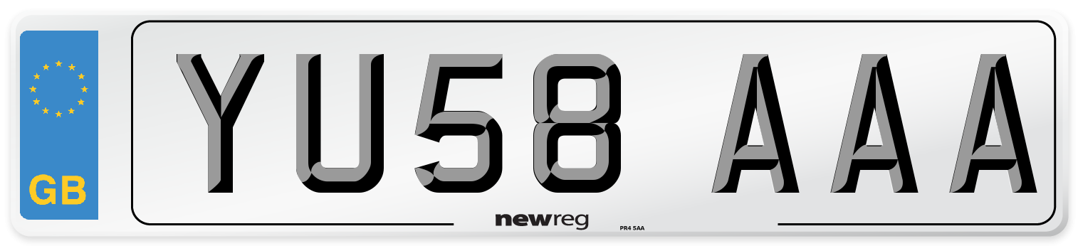 YU58 AAA Number Plate from New Reg