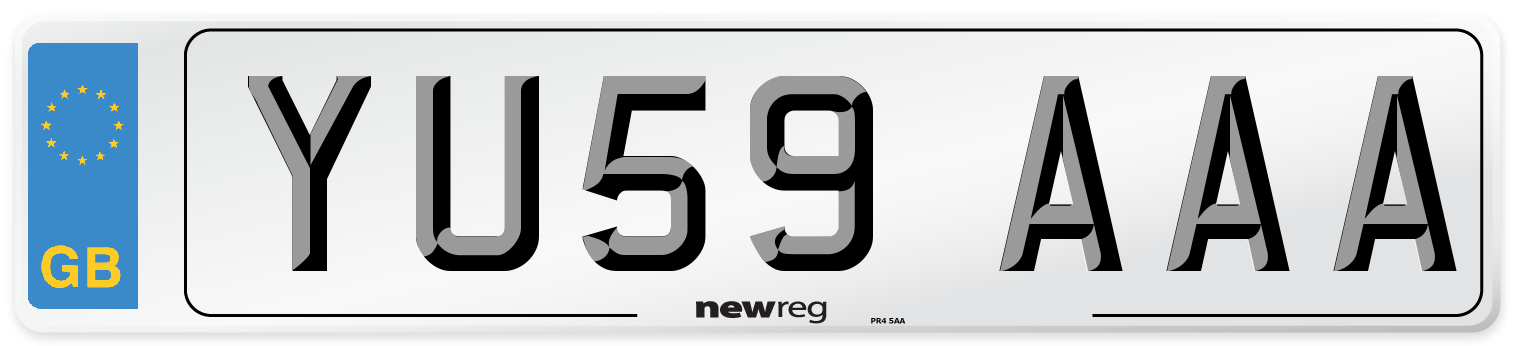 YU59 AAA Number Plate from New Reg