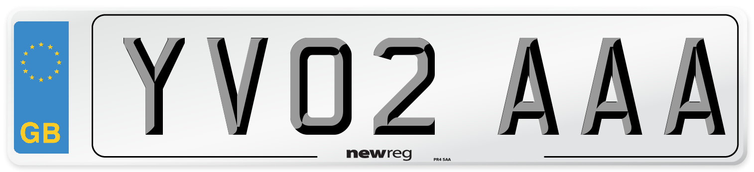 YV02 AAA Number Plate from New Reg