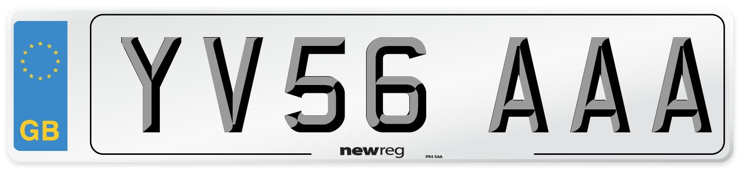 YV56 AAA Number Plate from New Reg
