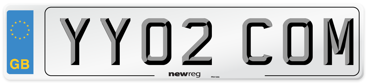 YY02 COM Number Plate from New Reg