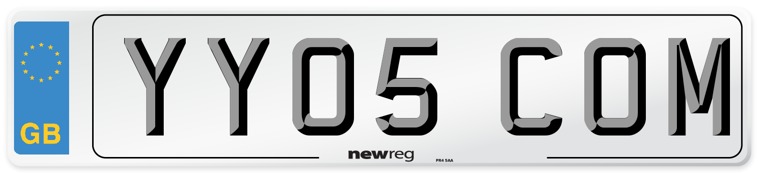 YY05 COM Number Plate from New Reg