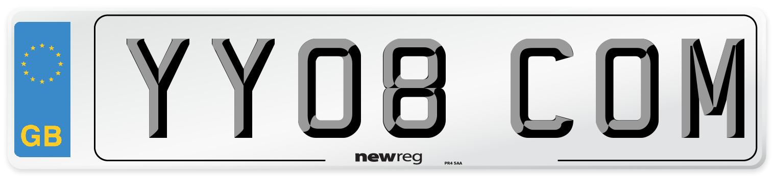 YY08 COM Number Plate from New Reg