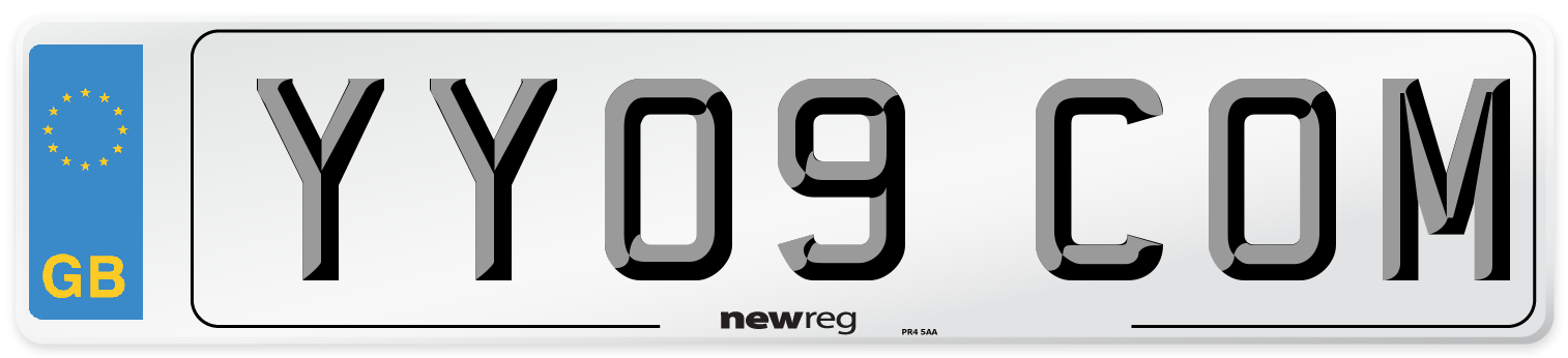 YY09 COM Number Plate from New Reg