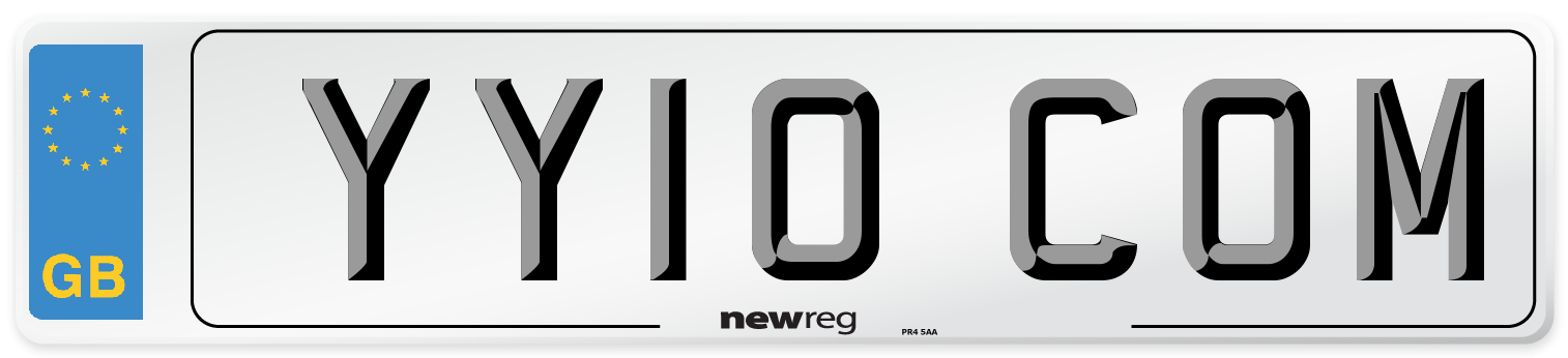 YY10 COM Number Plate from New Reg