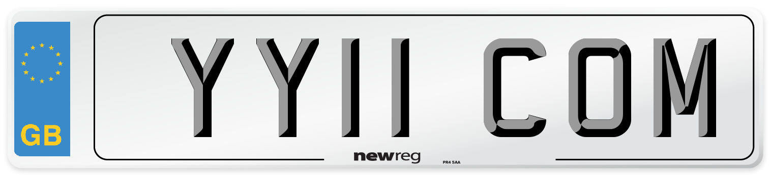 YY11 COM Number Plate from New Reg