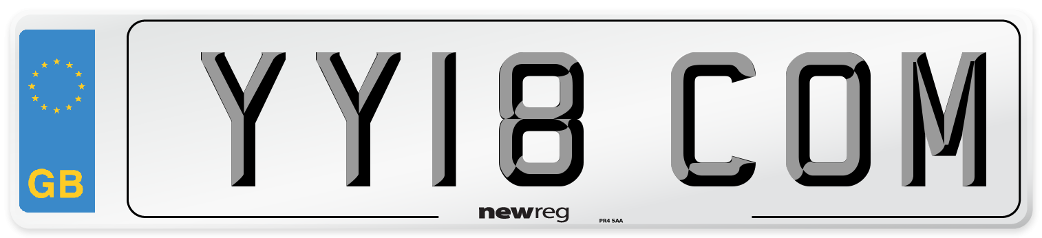 YY18 COM Number Plate from New Reg