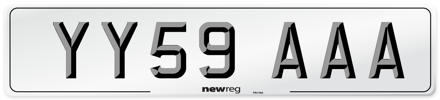 YY59 AAA Number Plate from New Reg